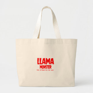 Logo de rouge de monstre de lama grand sac