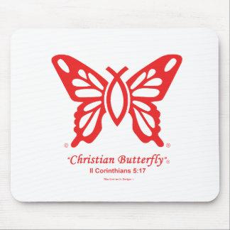 """Logo de rouge de tapis de souris """"de papillon"""