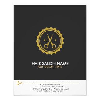 Logo de styliste en coiffure de ciseaux de blanc prospectus 11,4 cm x 14,2 cm
