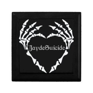 Logo de suicide de Jayde Petite Boîte À Bijoux Carrée