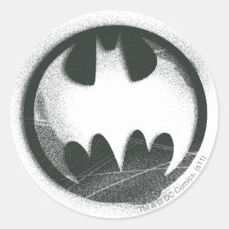 Logo de symbole de jet du symbole | de Batman Sticker Rond