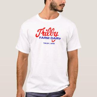 Logo de Toledo Ohio de laiterie de ferme de Trilby T-shirt