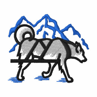 Logo de traîneau de chien