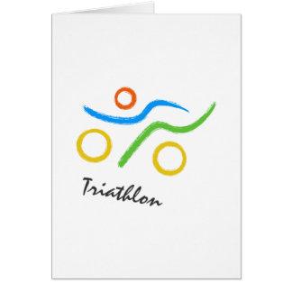 Logo de triathlon carte de vœux
