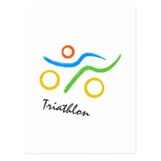 Logo de triathlon cartes postales
