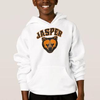 Logo de visage d'ours de jaspe