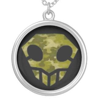 Logo d'enfant de camp de crâne pendentif rond