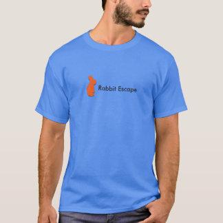 Logo d'évasion de lapin+T-shirt nommé (bleu) T-shirt