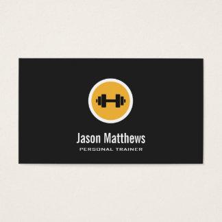Logo d'haltère, entraîneur personnel, gymnase 2 de cartes de visite