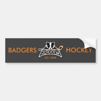 Logo d'hockey de blaireaux autocollant de voiture