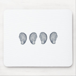 Logo d'huîtres tapis de souris