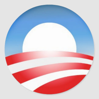 Logo d'Obama Sticker Rond