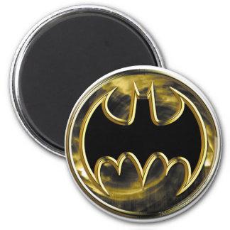 Logo d'or du symbole | de Batman Magnet Rond 8 Cm