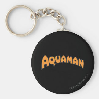 Logo d'orange d'Aquaman Porte-clé Rond