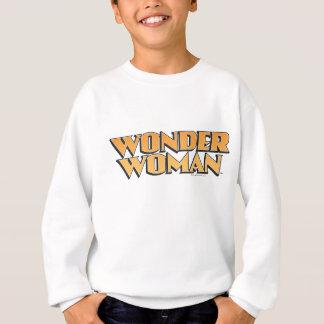 Logo d'orange de femme de merveille sweatshirt