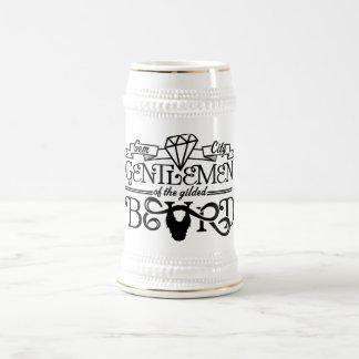 Logo doré de noir de barbe - Stein Chope À Bière