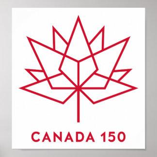 Logo du Canada 150 Poster