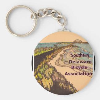 Logo du sud d'association de bicyclette du porte-clé rond