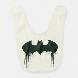 Logo du symbole | Spraypaint de Batman Bavoirs De Bébé