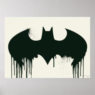 Logo du symbole | Spraypaint de Batman Posters