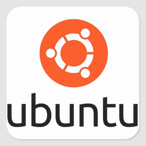 Logo d'Ubuntu Linux Stickers Carrés