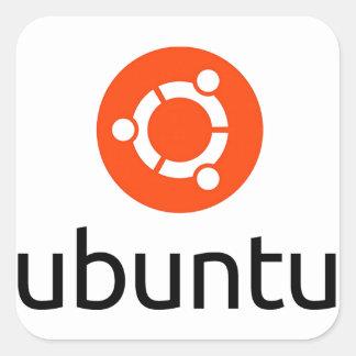 Logo d'Ubuntu Linux Sticker Carré