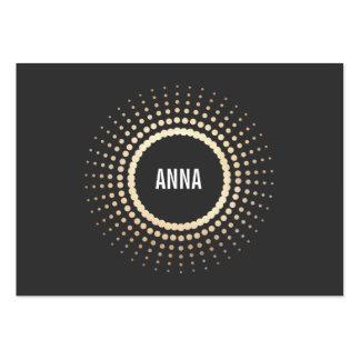 Logo élégant de cercle d'or, concepteur moderne, carte de visite grand format