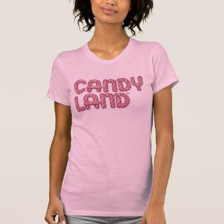 Logo empilé par terre de sucrerie t-shirt