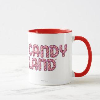 Logo empilé par terre de sucrerie tasses
