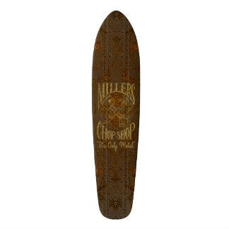 Logo en acier rouillé avec des rivets skateboards personnalisés