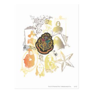 Logo et professeurs de Hogwarts Cartes Postales