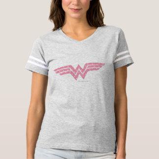 Logo floral rose coloré de femme de merveille t-shirt