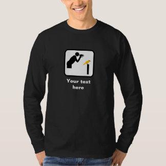 Logo (foncé) d'observateur de Birder/oiseau -- T-shirt