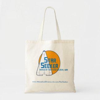 Logo Fourre-tout - planète orange de chercheur Tote Bag
