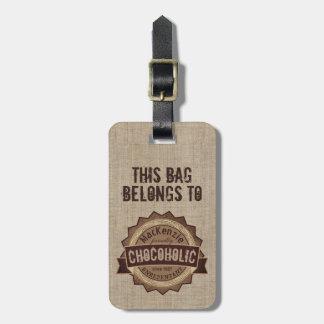Logo grunge de Brown d'insigne d'amant de chocolat Étiquette À Bagage