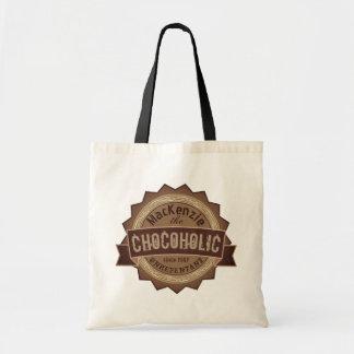 Logo grunge de Brown d'insigne d'amant de chocolat Sac De Toile