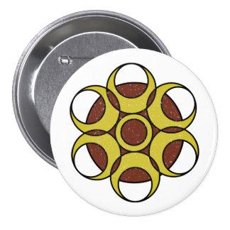 LOGO GRUNGE de CERCLE de bouton rond Badges