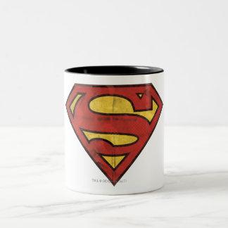 Logo grunge du S-Bouclier | de Superman Tasse 2 Couleurs
