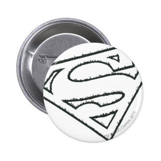 Logo grunge latéral du S-Bouclier   de Superman Pin's