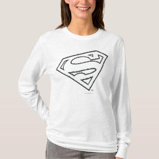 Logo grunge latéral du S-Bouclier   de Superman T-shirt