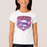 Logo grunge rose et pourpre de Supergirl T-shirt
