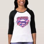 Logo grunge rose et pourpre de Supergirl T-shirts