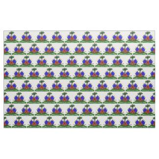 Logo haïtien de tissu de drapeau