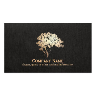 Logo holistique et naturel d'arbre de zen d'or de carte de visite standard