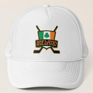Logo irlandais de drapeau de hockey sur glace casquette