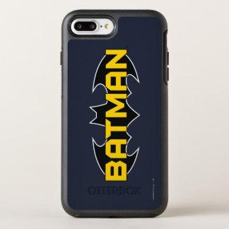Logo jaune du symbole | de Batman et noir nommé 2 Coque OtterBox Symmetry iPhone 8 Plus/7 Plus