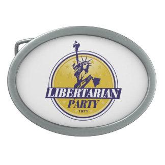 Logo libertaire de parti politique boucles de ceinture ovales
