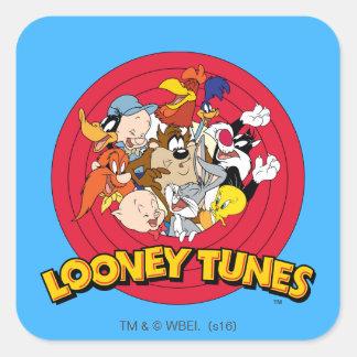 Logo LOONEY de caractère de TUNES™ Sticker Carré