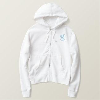 Logo Lt-Bleu blanc du sweat - shirt à capuche W de