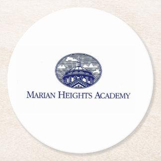 Logo marial d'académie de tailles dessous-de-verre rond en papier